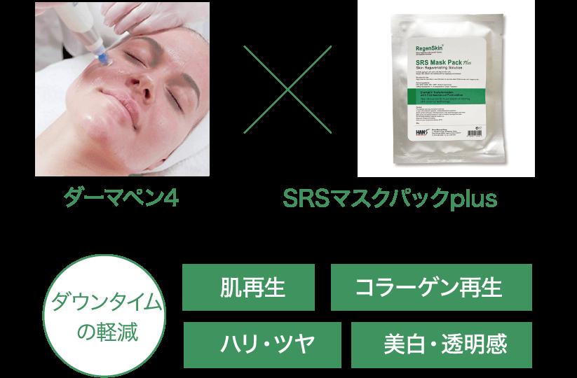 ダーマペン4SRSマスクパックplusダウンタイムの軽減肌再生コラーゲン再生ハリ・ツヤ美白・透明感