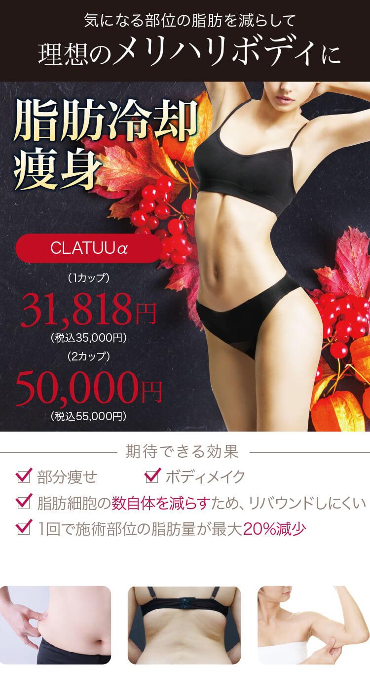 脂肪冷却痩身【CLATUUα(クラツーアルファ)】